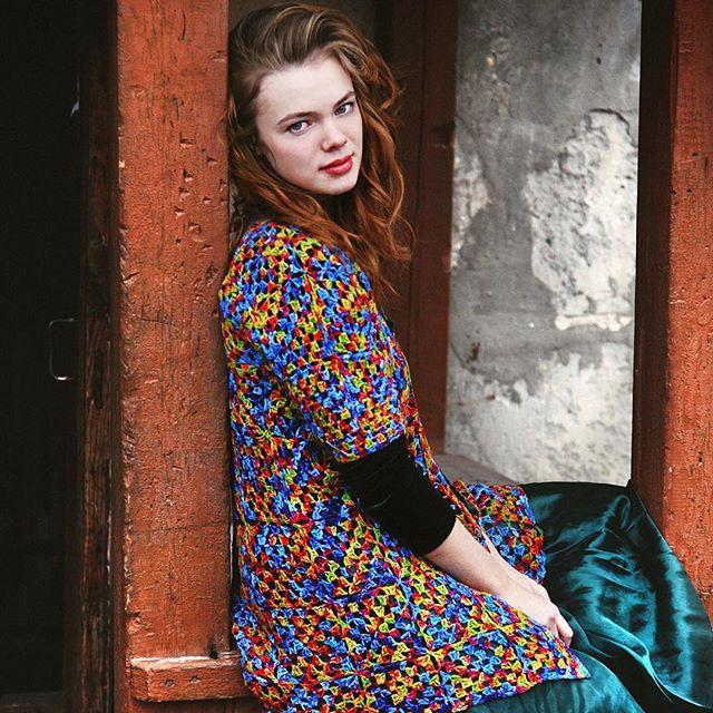 ruchkikruchki granny square crochet coat