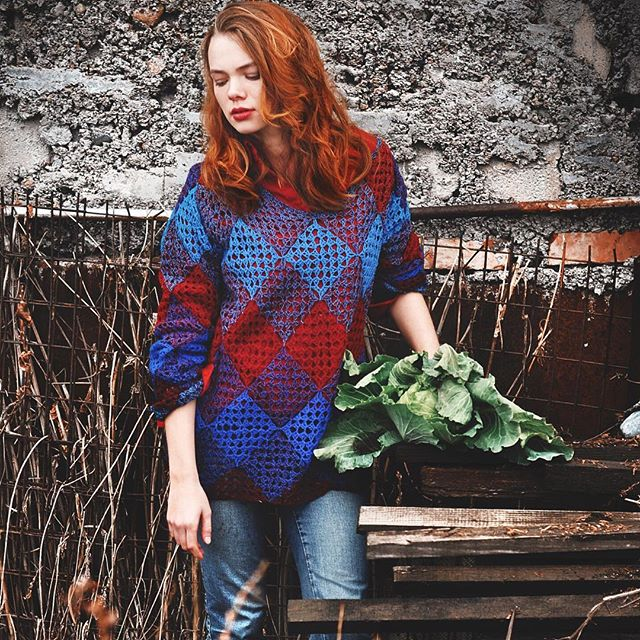ruchkikruchki granny square sweater