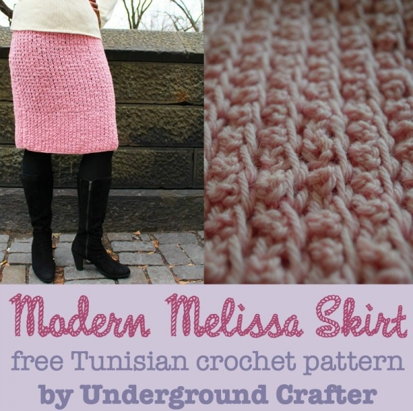tunisian crochet skirt free pattern