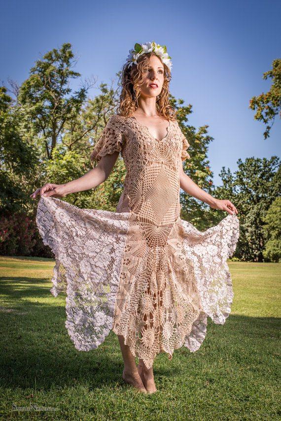 upcycled doily crochet dress