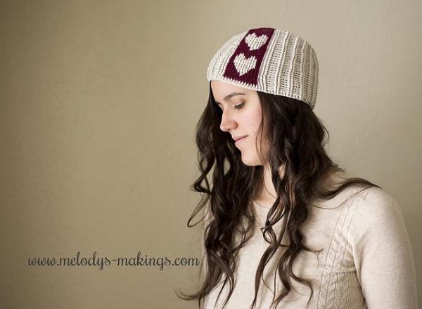 valentine heart crochet hat free pattern