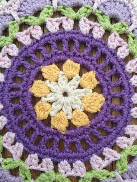 Ali's Crochet Mandala center