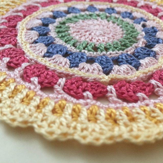 Diane's Crochet Mandala Flat