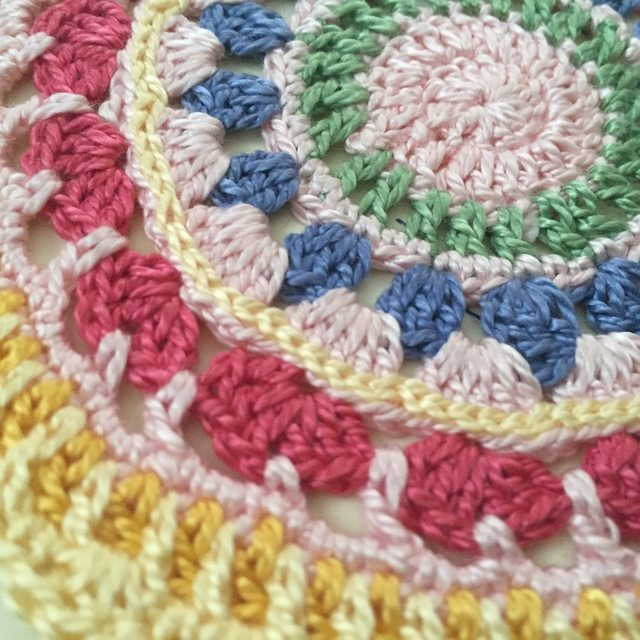 Diane's Crochet Mandala detail