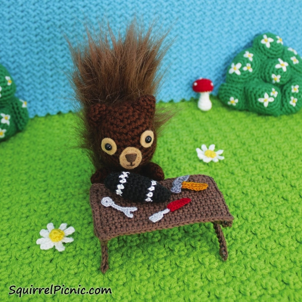 The Big Acorn Race by crochet artist and writer Jennifer Olivarez is a whimsical storybook and crochet pattern book in one!