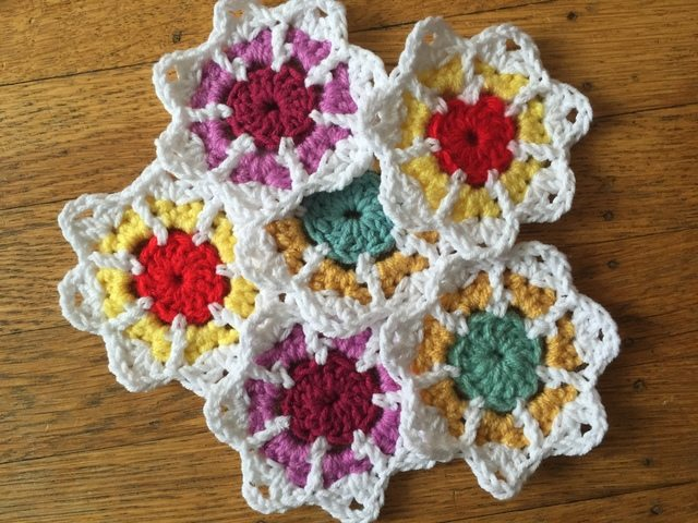Maryann's Mini Crochet Mandalas for Marinke flowers