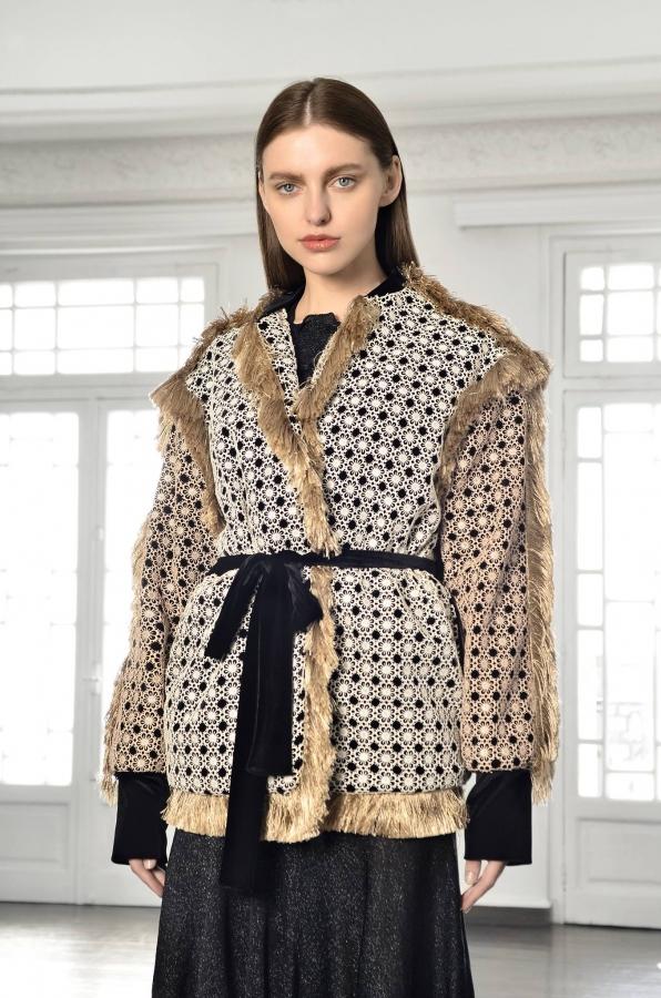 NatarGeorgiou doily inspired jacket