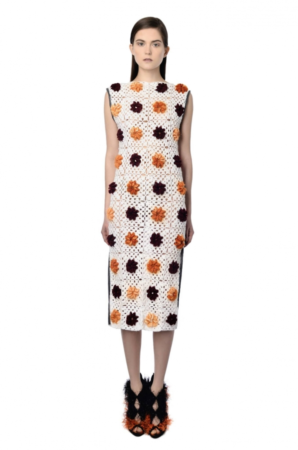 NatarGeorgiou floral granny square dress