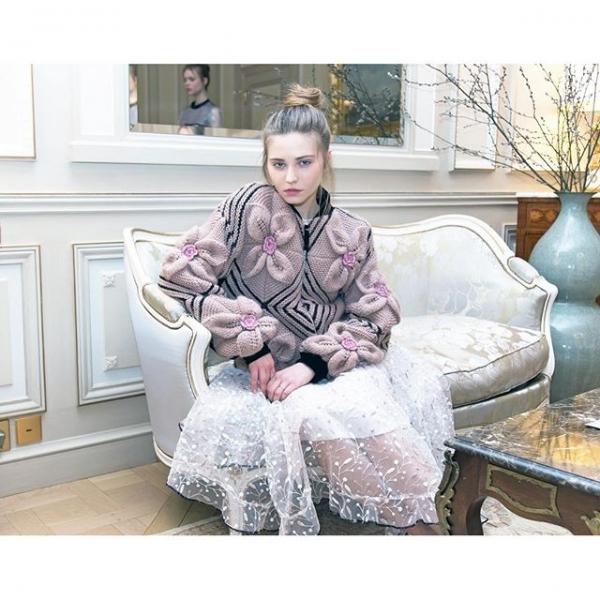 NatarGeorgiou floral knitwear