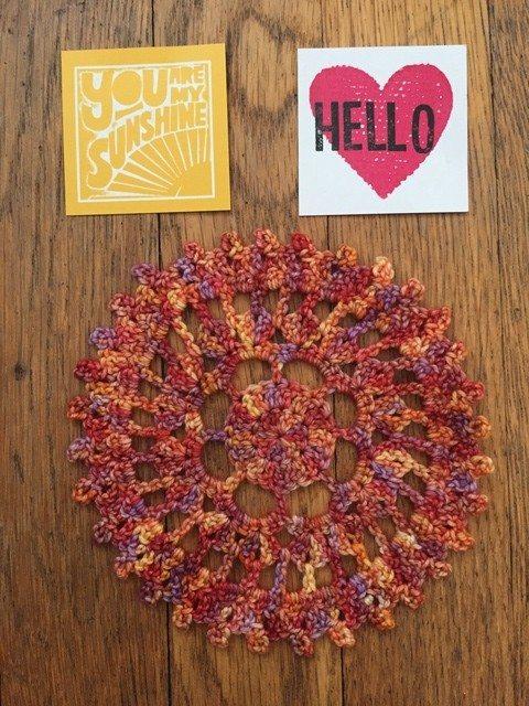 Sara's Crochet Mandala with notes