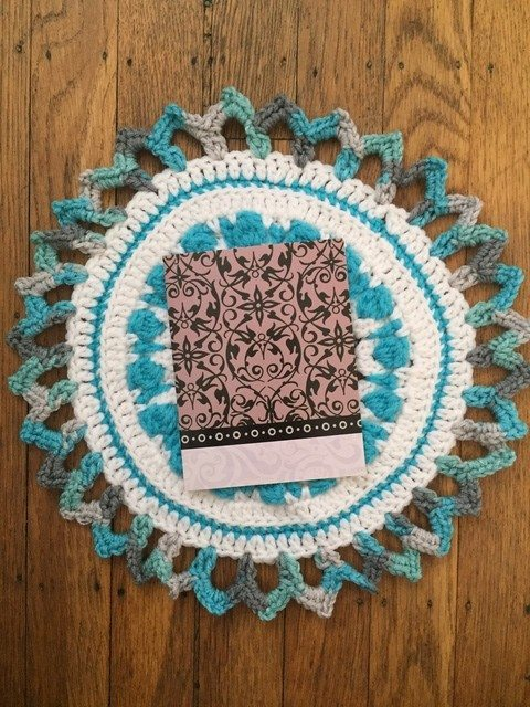 Tina's Crochet Mandala with card