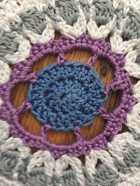Vicki's Crochet Mandala center