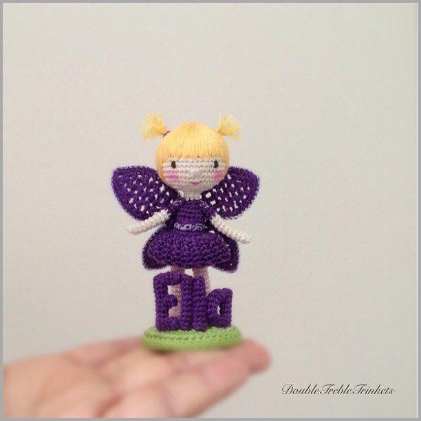 doubletrebletrinkets fairy micro crochet
