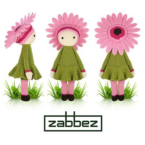 Gerbera fiore modello bambola uncinetto