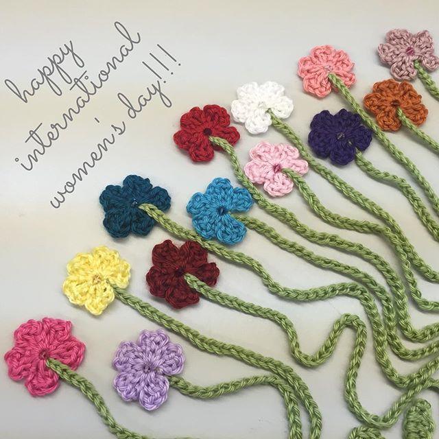 international womens day crochet flowers