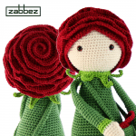 rose flower crochet doll pattern