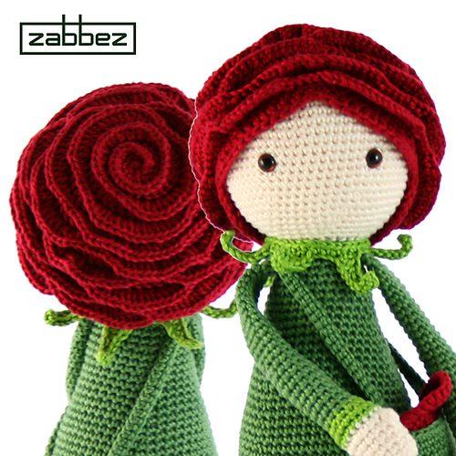 rose flower crochet doll pattern