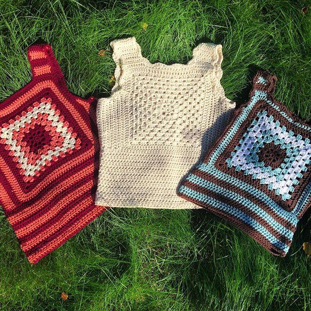 tanjas crochet granny tops