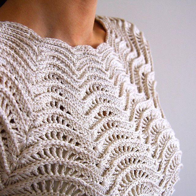 tanjas crochet ripple top