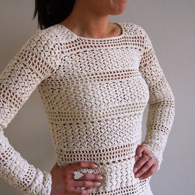 tanjas crochet sweater