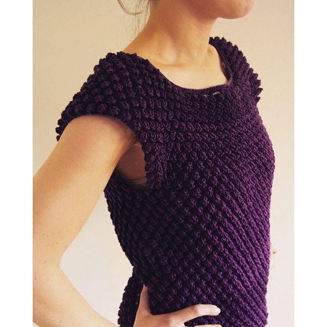 tanjas crochet top in purple
