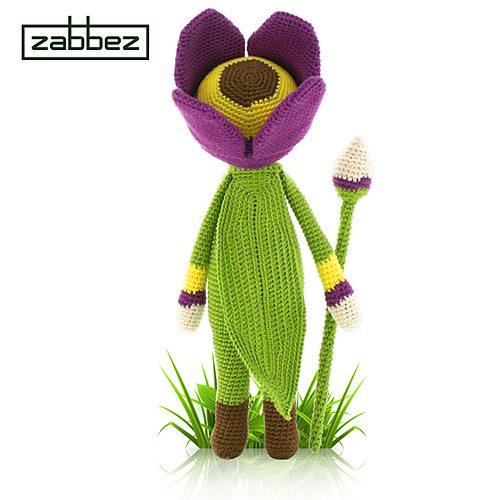 tulip crochet flower doll pattern