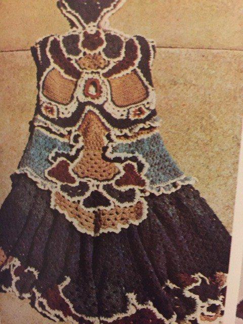 vintage crochet art dress