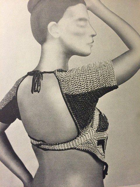 vintage crochet wrap top