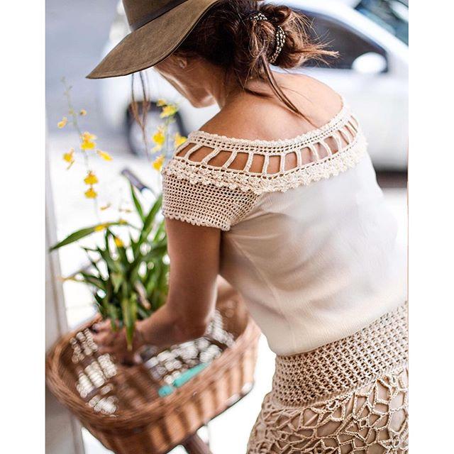 woman wearing crochet