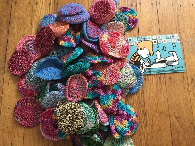 100 mini crochet mandalas for marinke from karen 1