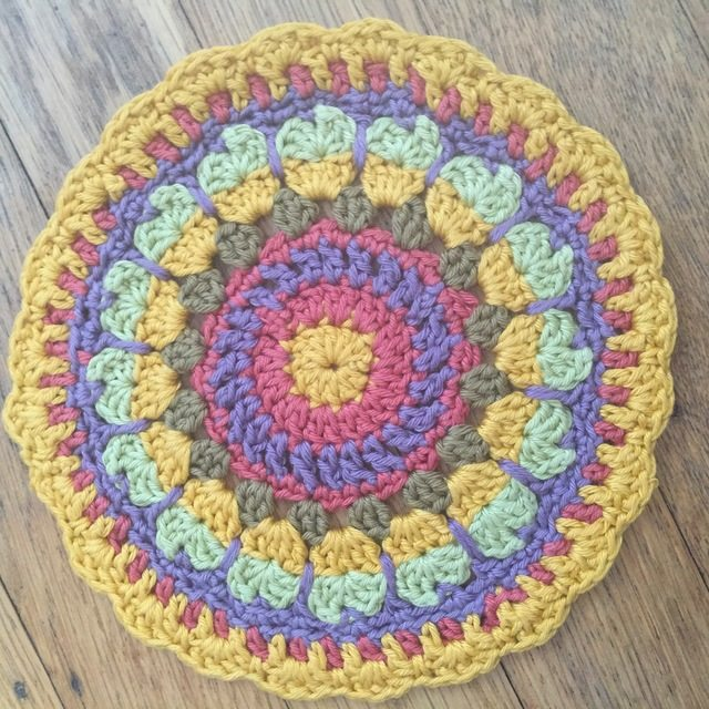 anne cotton crochet mandala