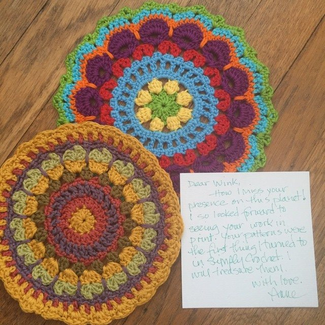 anne cotton crochet mandalas for wink