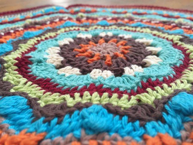 anonymous flat crochet mandala