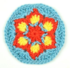 blooming flower crochet free pattern