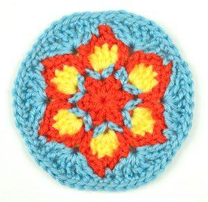 blooming flower crochet free pattern