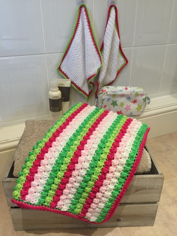 bobble bath mat free crochet pattern