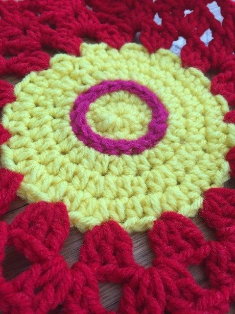 carmen crochet mandala flower detail