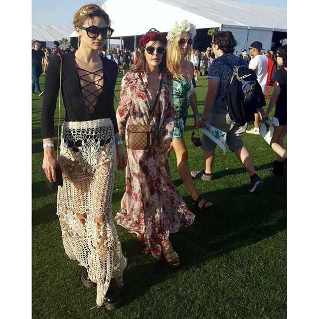coachella crochet skirt