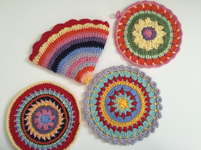 colorful anonymous crochet mandalas 1