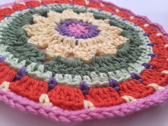colorful anonymous crochet mandalas 11
