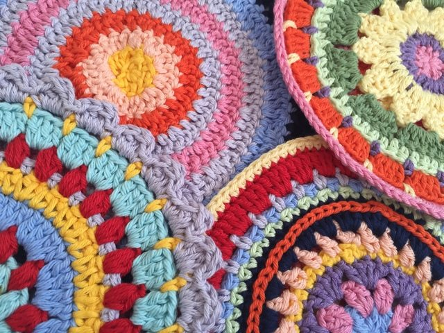 colorful anonymous crochet mandalas 3