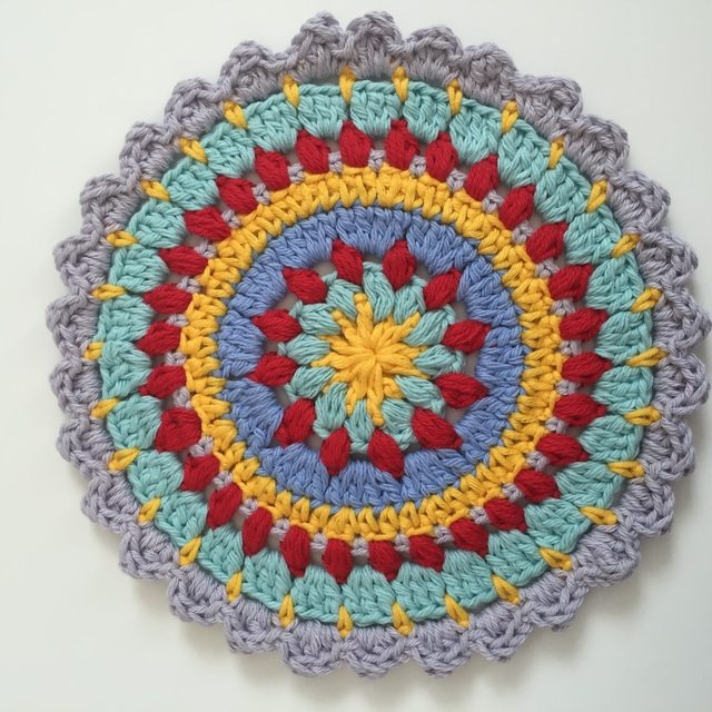 colorful anonymous crochet mandalas 5