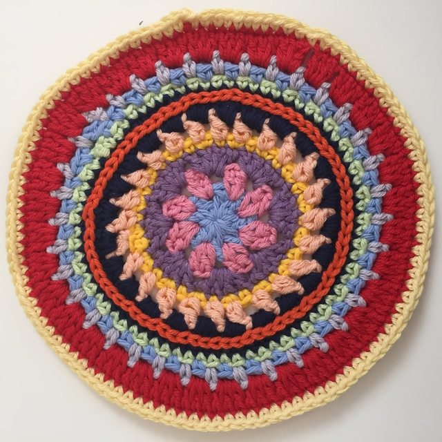 colorful anonymous crochet mandalas 6