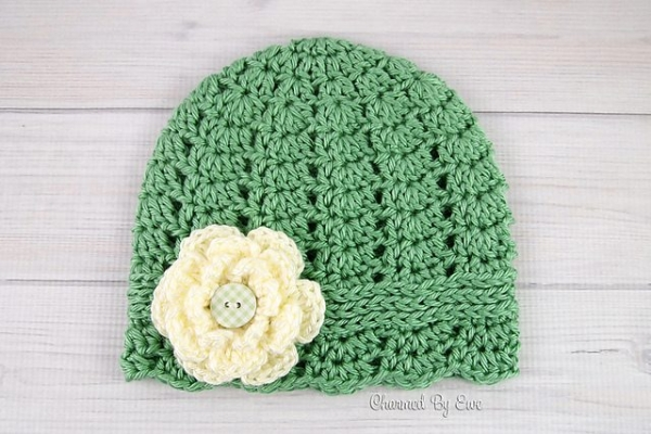 Pattern Crochet Hat With Flower : 20 Fresh New Crochet Flower Patterns