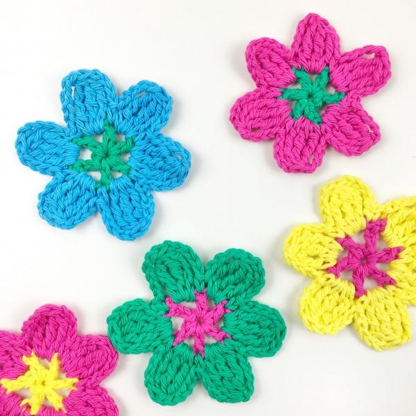 crochet flower video tutorial