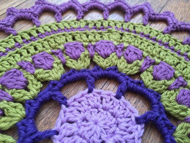 crochet mandalas detail