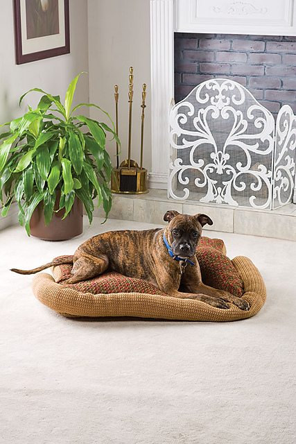 Crochet Patterns Pet Beds : Dog bed free crochet pattern from Elaine Bartlett; this pattern is for ...