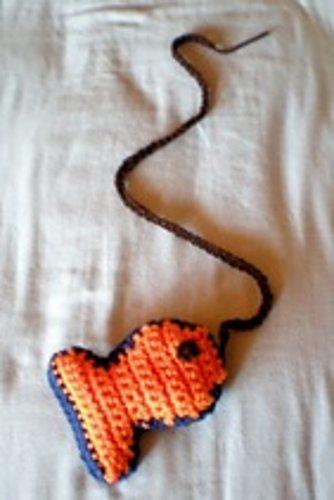 fish cat toy crochet pattern