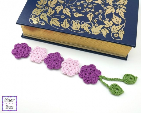 flower bookmark free crochet pattern