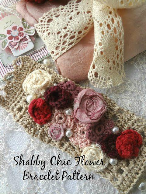 flower bracelet crochet pattern